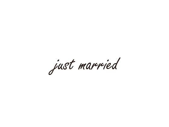 ウェディングスタンプ メッセージ(just married) WD-75