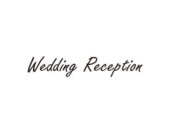 ウェディングスタンプ メッセージ(wedding reception) WD-81
