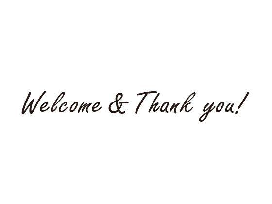 ウェディングスタンプ メッセージ(Welcome&Thank you!) WD-90